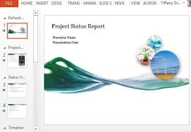 weekly report template ppt project status report powerpoint template