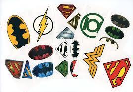 amazon com dc comics logo temporary tattoos set of 10 sheets