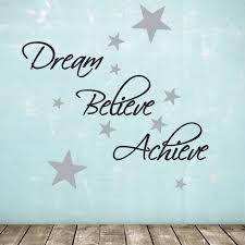 dream believe achieve wall sticker pack includes 60 silver dream believe achieve wall sticker