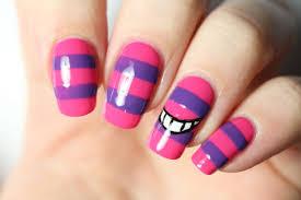 nail art disney le chat du cheshire alice in wonderland youtube