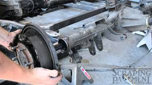 nissan titan rear axle how to remove axle and third member from a nissan d21 youtube