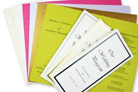 tri fold program trifold wedding programs lci paper