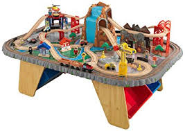 kidkraft train table compatible with thomas kidkraft train set and table waterfall junction amazon co uk toys