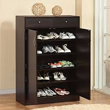 Shoe Rack by 247shopathome 6138 Five Shelf Shoe Storage Cabinet