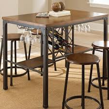 counter table with storage steve silver rebecca rectangular counter table with wine storage