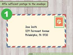 how to send an s a s e self addressed sted envelope