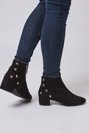 womens boots topshop lyst topshop betty boots in black