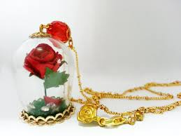 rose glass necklace images 62 beauty and the beast enchanted rose necklace items similar to jpg
