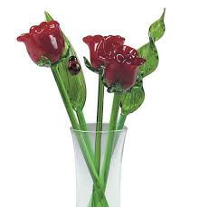 glass roses glass flowers roses kremp