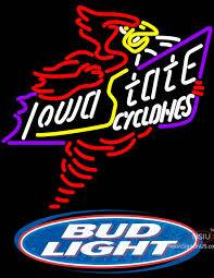 bud light neon signs for sale bud light logo killer iowa state cyclones real neon glass tube neon