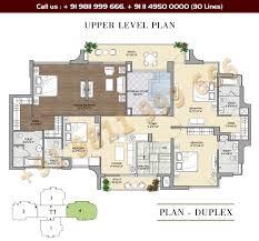 Duplex Floor Plans Apartment Plan Duplex Floor Singular Vipul Aarohan Upper Level
