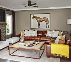 Brown Leather Sectional Sofa by Chocolate Brown Leather Sectional Sofa Houzz
