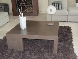 banc beton cire table de salon en beton cire couleur chocolat photo de beton