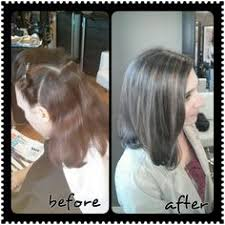 how to blend grey hair with highlights blending in greys in brown hair yahoo search results hair