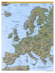 European Country Map by Europe Map Map Of Europe Europe Maps Of Landforms Roads Cities