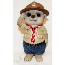 baby meerkat boy scout ornament by ornaments statues