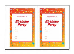 birthday party invite templates vertabox com