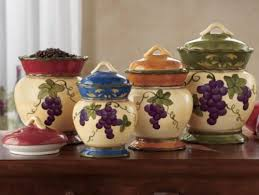 grape kitchen canisters grape kitchen decor sets home design ideas and pictures