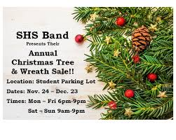 christmas tree sale shs band christmas tree wreath sale stamford schools