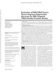 mri guided biopsy breast evaluation of mri trus fusion versus cognitive registration