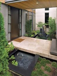 modern entry with koi pond luxe interiors design