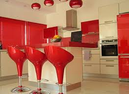 Red Color Kitchen Walls - fascinating kitchen design in the red color dream home style