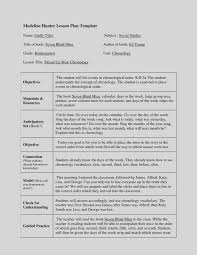 lesson plan template hunter latest madeline hunter lesson plan template blank word business