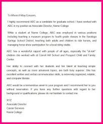 9 sample letter of recommendation from employer to university