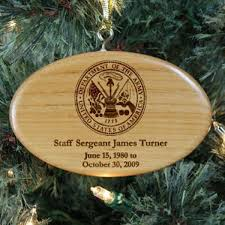 engraved army memorial ornament wood remembrance ornaments