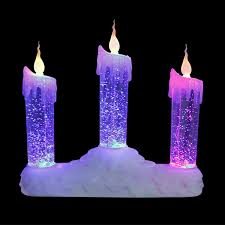 colour changing led christmas candle bridge light glitter water