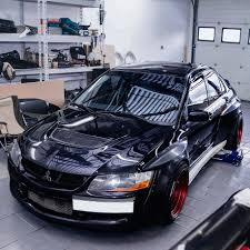 mitsubishi evo 7 stock clinched widebody kit evolutionm mitsubishi lancer and lancer