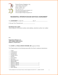House Design Questionnaire For Clients Interior Design Services Agreement