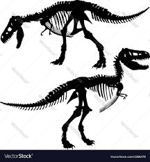 halloween skeleton silhouette t rex skeleton royalty free vector image vectorstock
