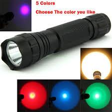 green hunting light reviews 501b yellow green red blue uv led light 300 lumen xpe lanterna