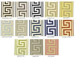 Greek Key Pattern Curtains 120l Greek Key Panel Solid Linen With Greek Key Tape