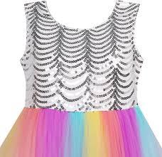 girls dress sequin mesh party wedding princess tulle u2013 sunny fashion