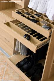 wardrobe inside designs oak interior of fitted wardrobe with divided drawer trouser