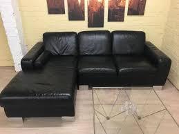 violino leather sofa price violino black leather sofa with chaise sale heavily reduced price