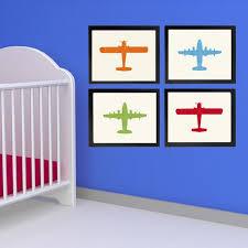 Vintage Airplane Nursery Decor Rustic Airplane Wall Art Original Rustic Airplane Art Large By