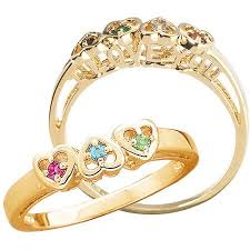 cheap mothers day rings personalized s i you birthstone hearts ring