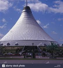 tent building kazakhstan astana khan shatyr outside tourists people tent