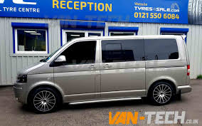 volkswagen van side vw transporter t5 fitted with a set of 18