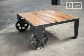 railroad cart coffee table robust and full of character pib