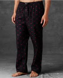 polo ralph s novelty print woven pajama in black