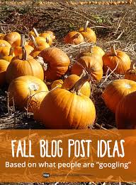 fall post ideas for