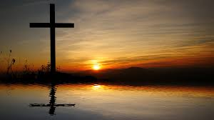 jesus cross religious symbol and believe background stock