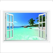 Decorative Window Decals For Home Popular Window Beach Buy Cheap Window Beach Lots From China Window
