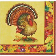 festive turkey thanksgiving luncheon napkins 16ct walmart