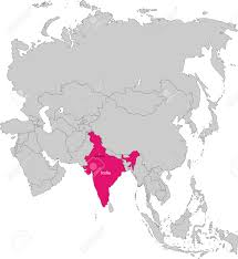 Asia Continent Map by Location Of India On Asia Continent Royalty Free Cliparts Vectors