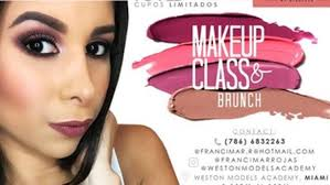 makeup artist school miami makeup class miami francimarrojas weston models academy